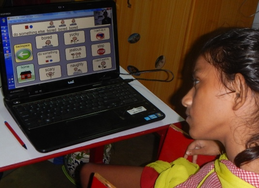 Ganga with her Tobii eye tracker