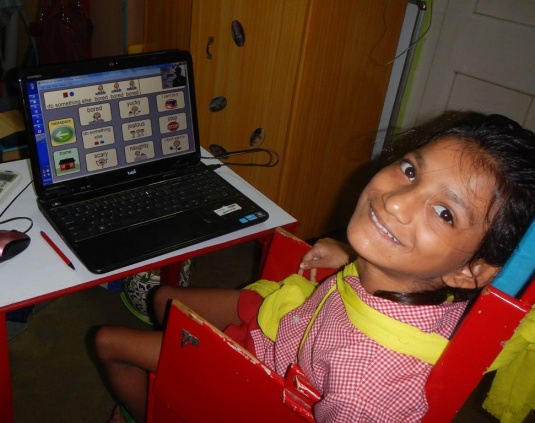 Ganga's eyes do speak.  Here she is saying that she has done well and deserves a photograph.